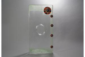 A. RIECKE. Modernist cubist glass vase 1939 #9