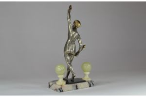 Carnival : Bronze art deco sculpture