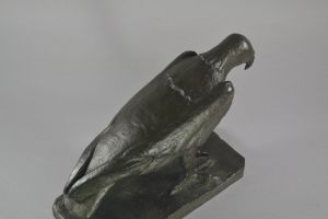 Massimo Magliano. Large Bronze eagle. Valsuani prestigious foundry.
