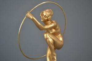 Louis Alliot bronze hoop dancer