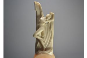 Art deco alabaster figural lamp