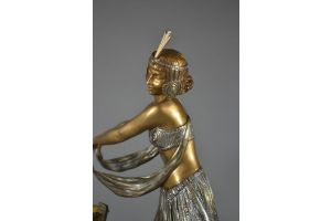 Aurore Onu large bronze dancer