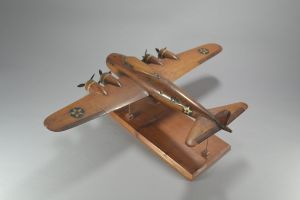 A wood model of 1940's bomber plane