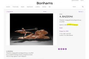 Huge 93 cm bronze groupe BAZZONI . Poseidon