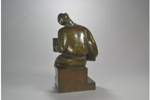 Juan BERRONE bronze accordionist figure