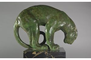Rare Andre Vincent Becquerel bronze panther