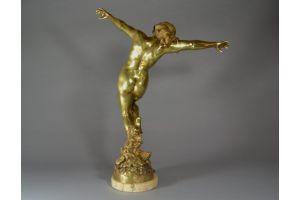 Carl Binder tall art nouveau dancer