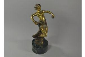 Antoine Bofill. Dancing girl bronze sculpture mascot.