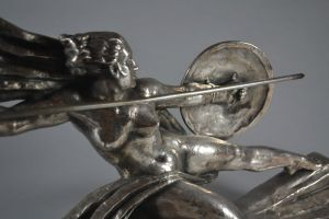 Marcel Bouraine bronze Amazone sculpture