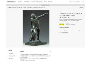 The Borghese gladiator bronze. Cast by Ferdinand Barbedienne