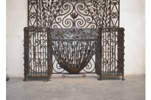 Tremendous 1920 wrought Iron hall tree. Edgar Brandt.