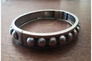 Art deco sterling silver modernist bracelet