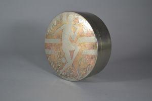 Stunning quality art deco dinanderie box. Linossier era