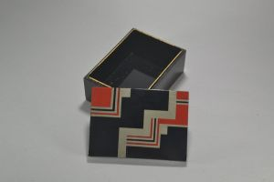 Modernist art deco lacquered wood box