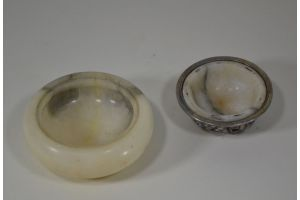 Alabaster and bronze box