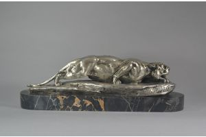 Leon Bureau bronze crouching panther