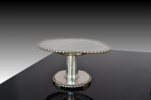 Art deco silver plated center piece
