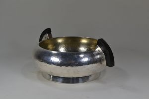 German modernist silver plated center piece
