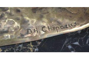 D. CHIPARUS CIRCA 1925 IMPRESSIVE BRONZE AMAZONE.
