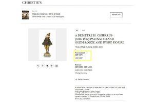 Dh. Chiparus. Little clown chryselephantine bronze sculpture.