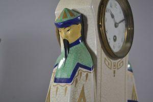 Cracked ceramic clock. Chinese. Mandarin. French. 1930