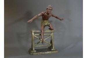 Dh. Chiparus hurdle jumper large sculpture