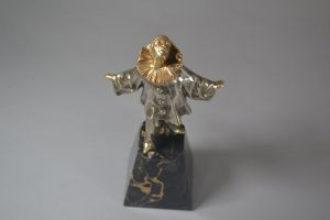 Art deco bronze pierrot clown