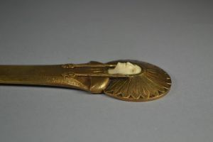 Art deco bronze and Ivory letter opener