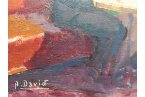Andre David oil painting on cardboard