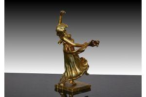 Art Nouveau bronze dancer