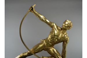 Rare J.Deroncourt bending man BRONZE version