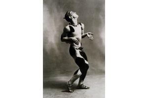 Signed silver plated bronze Faun. Nijinsky
