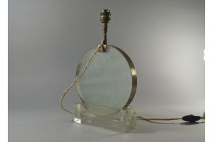 Djo Bourgeois modernist glass lamp