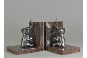 Art deco elephants bookends