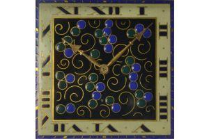 Art deco enameled travel clock