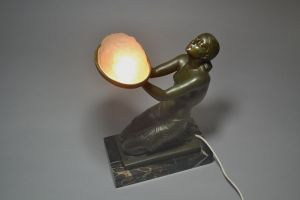 FLOREAL rare Fayral for Max Le Verrier lamp