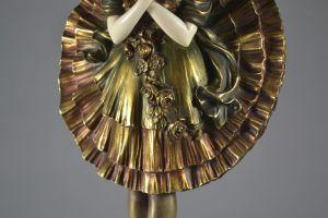 Chryselephantine figure of a ballet dancer