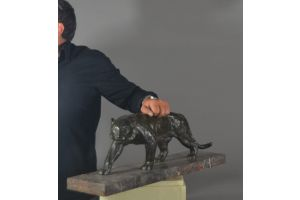 Georges Garreau large bronze art deco panther