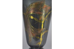 Lucien Gerfaux tall art deco dinanderie lamp