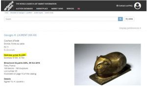 Georges Henri Laurent. Bronze Cormorant