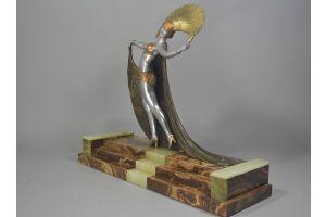 Lucien Gibert art deco sculpture. Cabaret dancer