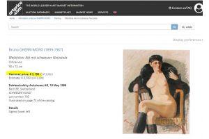 Gherri Moro (1899-1967) Portrait accordionist. Oil on canvas.