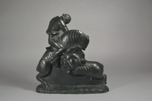 Akop Gurdjan Russian Armenian. 1923 Bronze cubist art deco sculpture