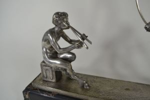 Thyrse dancer and faun bronze sculpture by Guirande