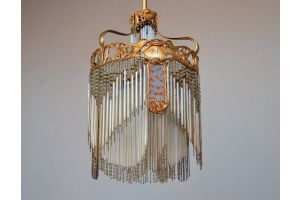 Hector Guimard art nouveau ceiling light