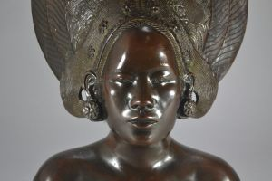 Bien Hoa (Saigon) applied art school. Balinese dancer bust.