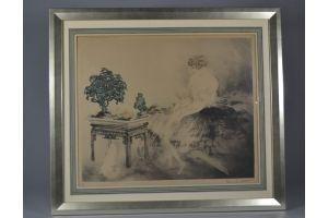 Louis ICART. Japanese Garden. Large version.