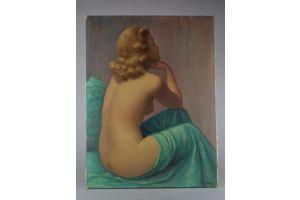 A lady. Jean JANNEL. Oil on canvas.