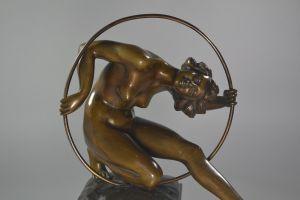 L.Giannoni bronze hoop dancer figure
