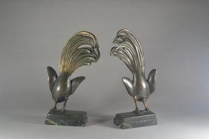 Alexandre Kelety rare bronze bookends pair